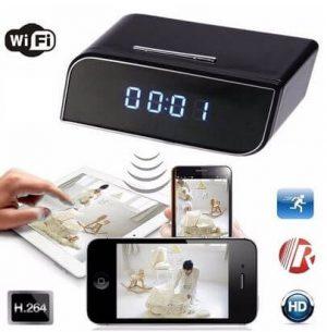 Camera IP WIFI Siêu Nhỏ Full HD Ngụy Trang Đồng Hồ Để Bàn Giá Rẻ