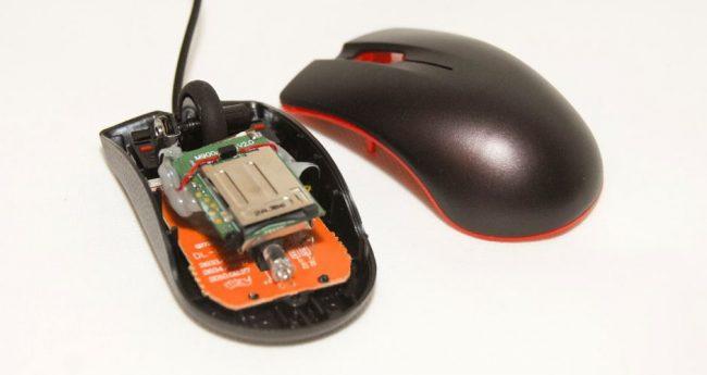 Máy nghe lén ngụy trang chuột máy tính HCM